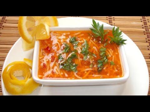 Турецкий суп с макаронами. Как приготовить суп с макаронами. Tel Şehriye Çorbası Tarifi
