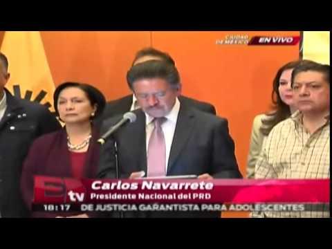 Pronunciamiento del PRD sobre la licencia de Ángel Aguirre / Excélsior Informa