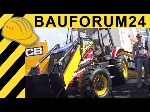 JCB 3CX New Backhoe Loader Walkaround - CONEXPO 2014 - Baufourm24 TV