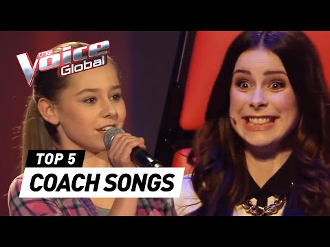 KIDS who auditioned with a COACH SONG in The Voice Kids