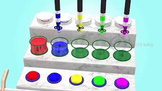 Learn the colors with Car and magic water for kid - Full HD