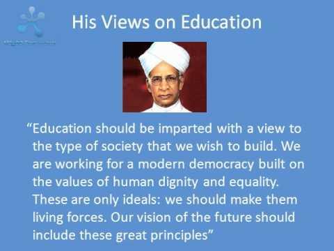 essay of dr sarvepalli radhakrishnan