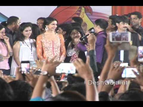 Bollywood actress Deepika Padukone at Navratri Garba event in...