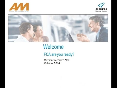 ALPHERA Financial Services and Automotive Management FCA Webinar 9th October 2014