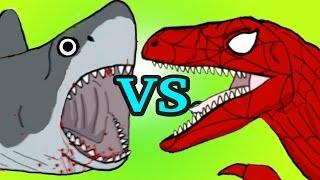 """My Cute Shark Attack Cartoon #12 (Shark Machine vs. Dino Team!! +BEST OF!!) kids cartoons!"