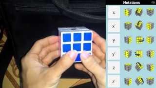 Cách chơi rubik 3x3x3 dễ dàng nhất - Ký hiệu xoay trong công thức