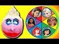 Disney Princess Spin The Wheel Game w PlayDoh Drill N Fill Ursula, Belle, Moana, Elsa, Ariel & Maui!