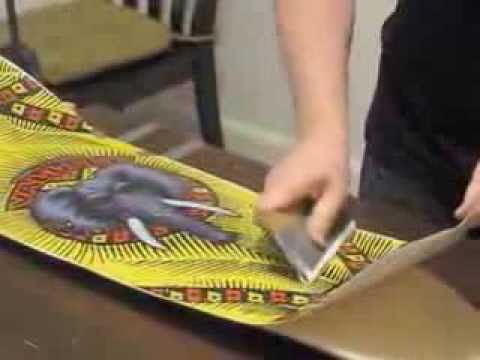 Custom Skateboard Graphic Wrap Using Printed Vinyl Youtube