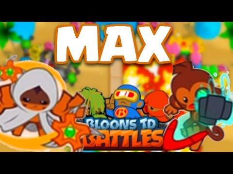 Bloons td battles max level tier 4 boomerang thrower glaive lord
