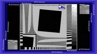 AVS HD 709 Basic Test Patterns - Color and Overscan