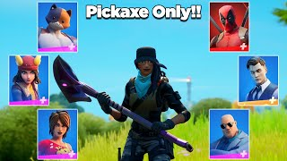I Killed All Mythic Bosses Using Only A Pickaxe in Fortnite *IMPOSSIBLE*
