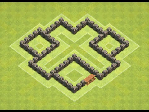 Clash of Clans -Town Hall 4 Defense Base (Best Base Layout 2018)