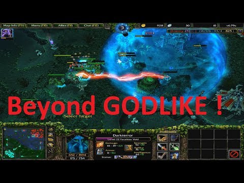DotA 6.79c - Faceless Void Darkterror Beyond GODLIKE !