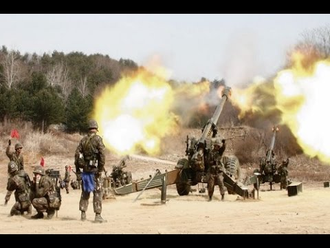 North and South Korea Exchange Land Border Fire