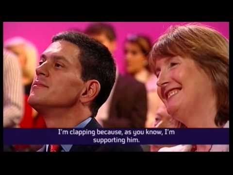 David Miliband caught out on camera (Channel 4 News, 28.09.10)