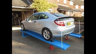 Homemade Car Service Ramps