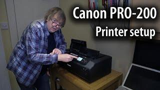 01. Canon Pixma PRO-200 A3+ printer setup and initialisation