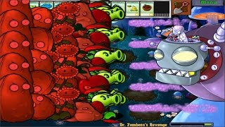 PLANTS VS ZOMBIES 100% FUME SHROOM VS DR. ZOMBOSS`S