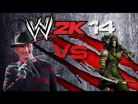 WWE 2K14 Freddy Krueger vs Green Arrow I Quit Match | TerriblePain