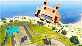 GTA 5 Funny Moments - 'SPACE INVADERS!!!' (GTA 5 Online Funny Moments)