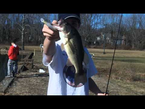 Late Winter New Jersey Bass Fishing