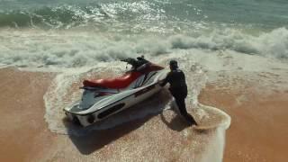 Seadoo GTI 130 , Jumping the waves. Filmed by Drone PHANTOM 3