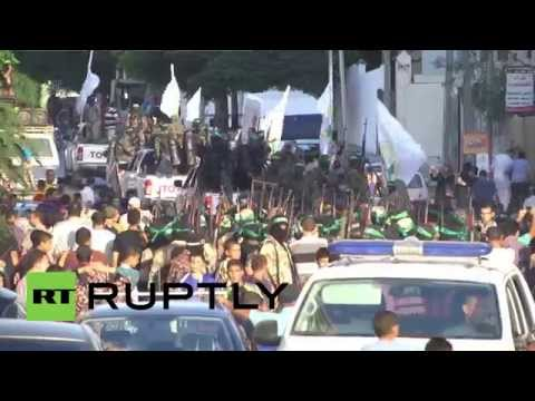 State of Palestine: Al-Qassam hold military march on anniversary of Gaza truce