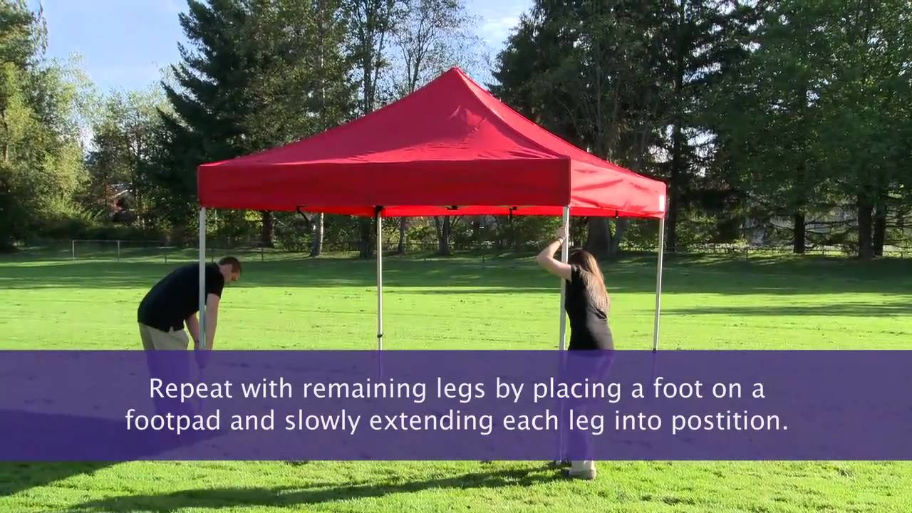 How To Setup An Instant Canopy Pop Up Tent Youtube