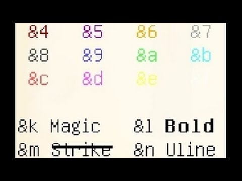 Как писать цветными буквами в minecraft в чате