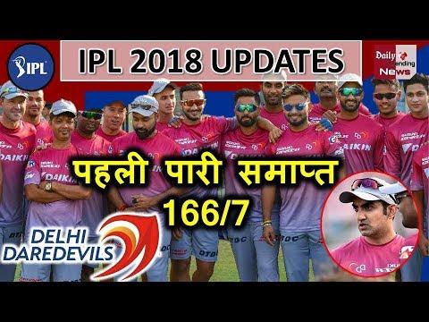 Vivo IPL 2018: पहली पारी हुई समाप्त, Delhi Daredevils ने KXIP के सामने खड़ा किया 167 का लक्ष्य !!
