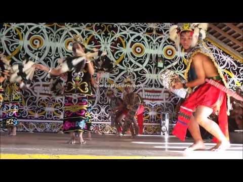 Traditional Kenyah Cultural Dance, Desa Setulang, Malinau Indonesia, Borneo Indigenous people