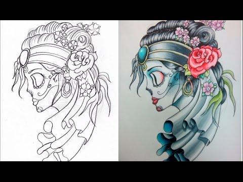 Как правильно рисовать эскиз для татуировки