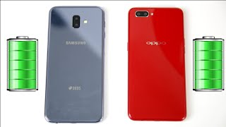 Galaxy J6+ (J6 Plus) vs Oppo A3S battery Charging time test