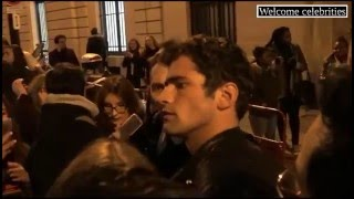 Sean O'pry with Fans after Balmain Fall-Winter Show at Paris Fashion Week 2016 (01-23-2016) HD