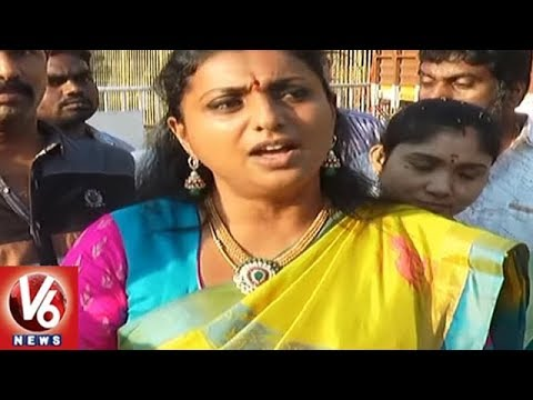 MLA Roja Supports Pawan Kalyan, Slams Media | Casting Couch Controversy | V6 News