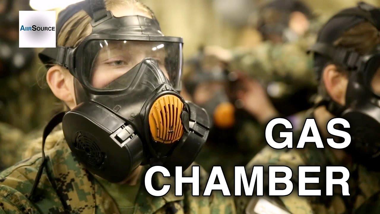 Female Marine Recruits Do Gas Chamber - US Marines Boot ...