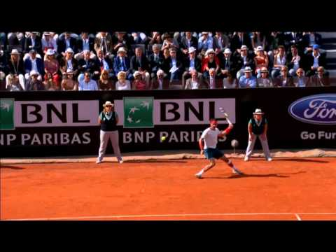 Nadal Puts Foot Down vs. Federer In Rome