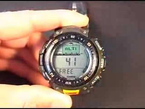 Suunto Core vs Casio Pathfinder Part 1 Video