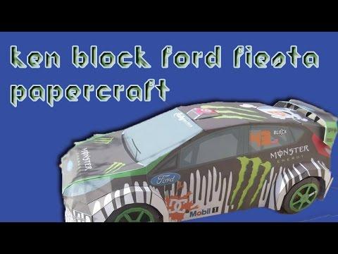 Ken Block Papercraft