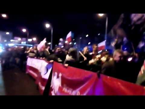 Marsz Pamięci Żołnierzy Wyklętych W Zielonej Górze 01.03.2017 (2)