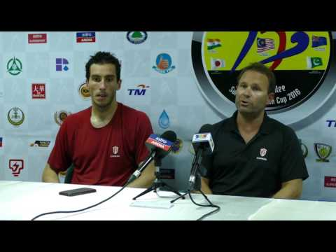 Canada post match press conference with Malaysia 2-2. Azlan shah cup hockey Malaysia 2016