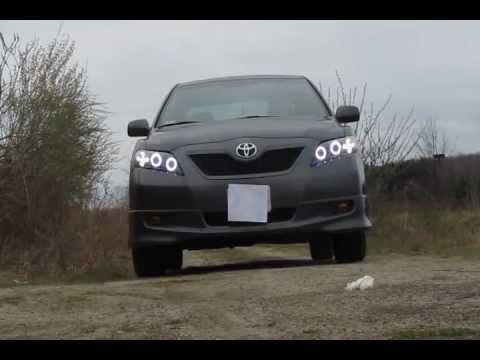 2009 Toyota Camry Custom Headlights Youtube