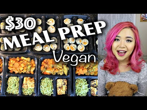 VEGAN MEAL PREP FOR $30 (KOREAN FOOD EDITION!!!) // meal prep for the week
