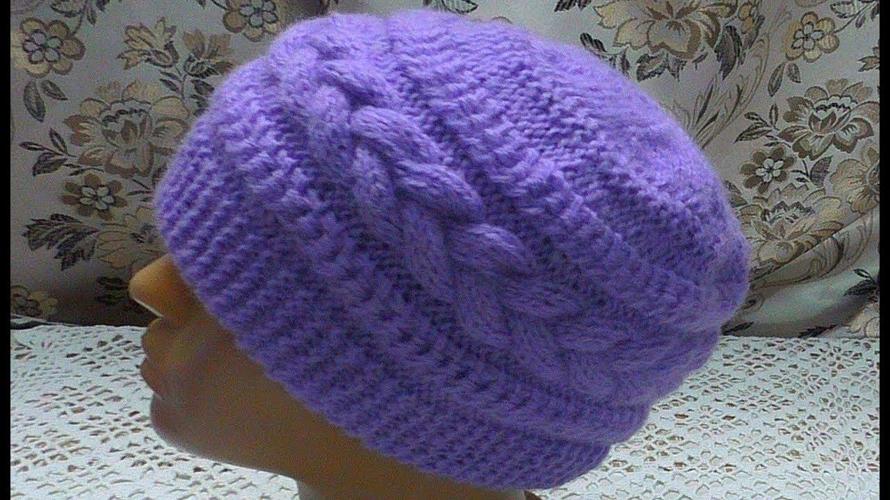 31Видео вязание спицами шапочки