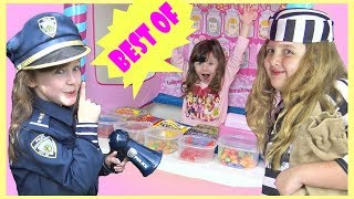 COPS AND ROBBERS In The Kid Candy Store ! STOLEN CANDY Best Of Video !