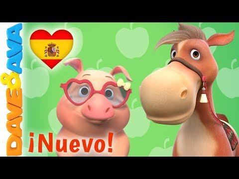 🎵 La Canción de los Animales de la Granja   Dave and Ava   Canciones Infantiles en Español 🎵