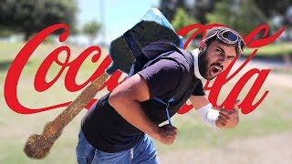 COCA COLA BUTANE ROCKET JETPACK!! (I CAN'T BELIEVE IT ACTUALLY WORKED!? 😱)