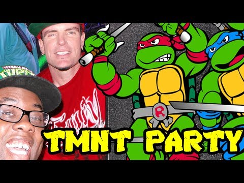 EPIC NINJA TURTLES PARTY with VANILLA ICE : Black Nerd