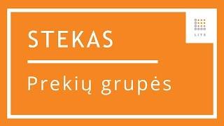 9 Prekių grupių suvedimas apskaitos programoje STEKAS apskaita | LITS