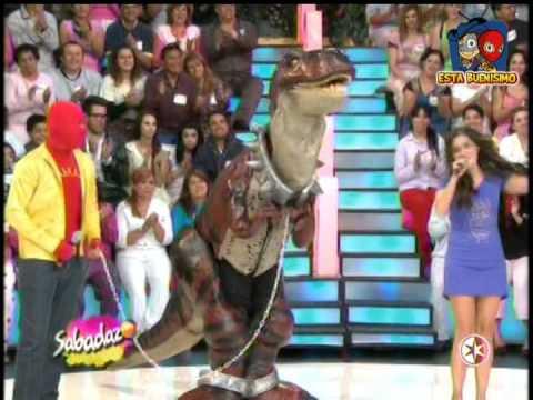 los manitos y el dinosaurio en sabadazo 19 de abril 2014